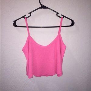 Boohoo Pink Crop Top