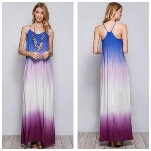 She and Sky Dresses & Skirts - Ombré Dip Dye Maxi