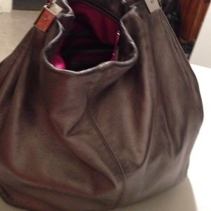 Cole Haan Handbags - Authentic large leather metallic bag