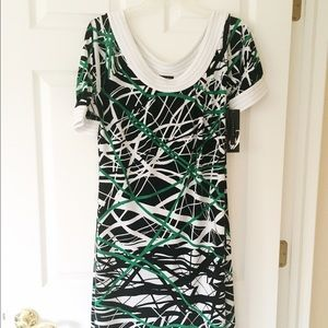 Nine West short sleeve knit career casual dress