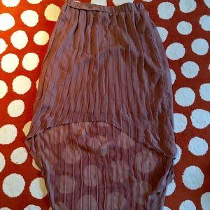Xhiliration High lo pleated skirt