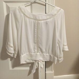 Chiffon White Dress Top