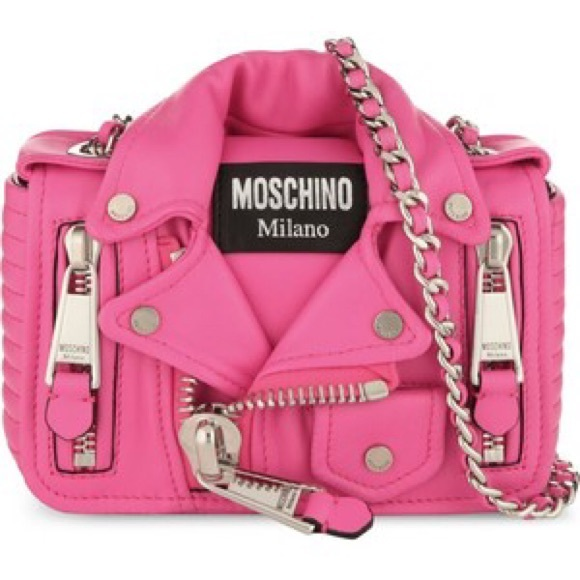 0458b162b7270 Moschino Bags | Nwt Barbie Motorcycle Jacket Purse | Poshmark