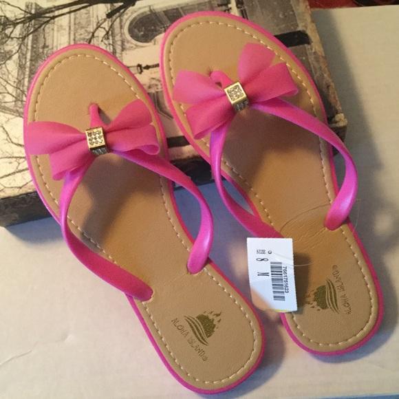 de639f5fd NEW  Aloha Island Pink Sandals w Bling