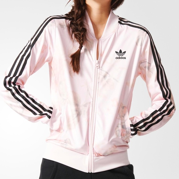 58% off Adidas Jackets & Blazers - Adidas Pastel pink rose track ...