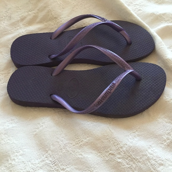 4c0f4b53a Havaianas Shoes - Havaianas Slim Purple Flip Flops Size US 4 5