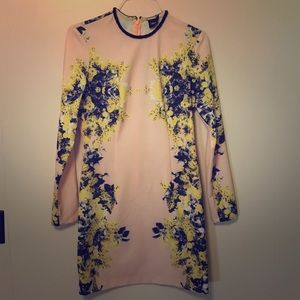 ASOS peach flower dress