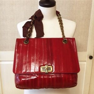 Lanvin red happy bag