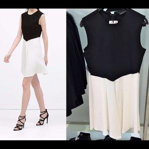 Zara 2015 black and white dress Size M