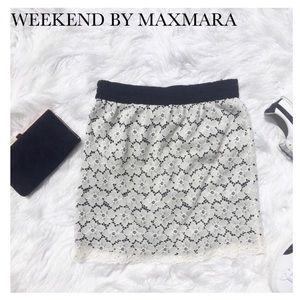MaxMara Amerigo Cream Lace Skirt