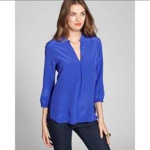 Amanda Uprichard Tops - Amanda Uprichard Forever Silk blue 3/4 sleeve top