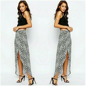 ASOS Wrap Animal Print Maxi