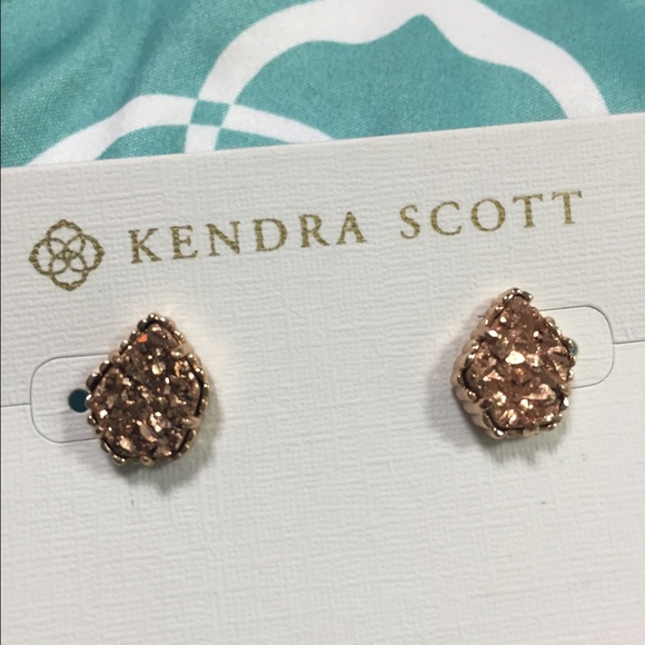 23 off Kendra Scott Jewelry Tessa Studs In Rose Gold Drusy Poshmark