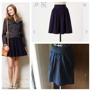 Anthropologie Dresses & Skirts - Anthropologie Navy Skirt