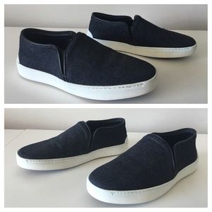 RAG & BONE KENT DENIM SLIP ON SNEAKERS SIZE 36