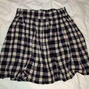 90s grunge plaid high waisted mini skirt