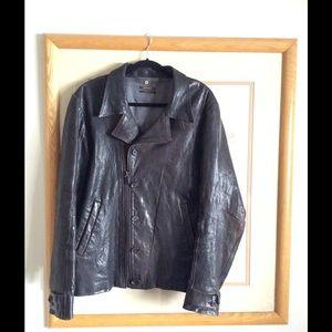 Diesel Jackets & Coats - D I E S E L - Black Leather Jacket Gold Label
