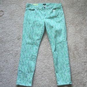 J crew floral toothpick jeans sz 33