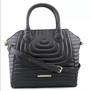 Steve Madden CLASSIC LARGE DOME-LIKE Black Satchel