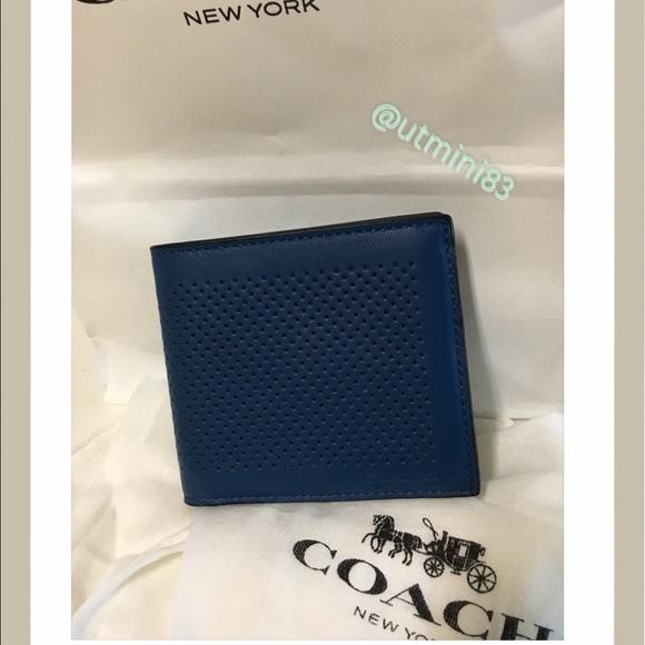 83407d6c3b 🍥coach men wallet blue NWT