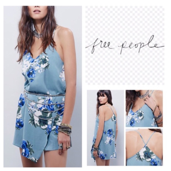 Free People Dresses & Skirts - Free People Floral Cascades Slip Dress.  NWT.