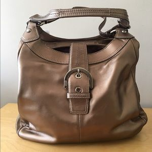 74a73581643b Coach Soho Large Hobo Bronze Metallic Tote Bag