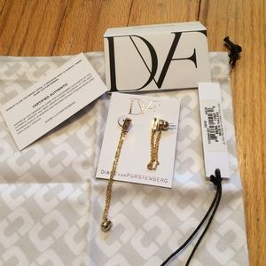 DVF authentic earrings. BNWT w/authenticity