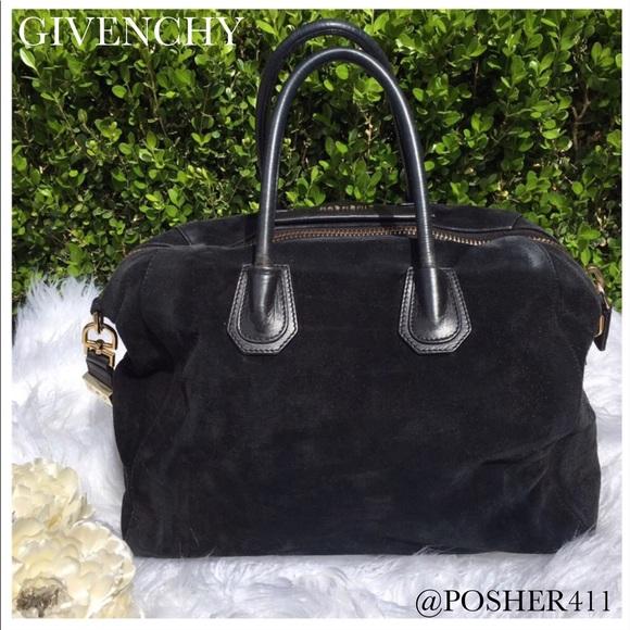 7f98b6200a Givenchy Bags | Antigona Black Suede Satchel | Poshmark