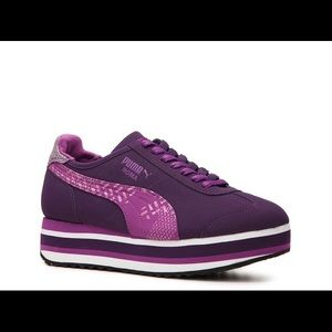 Purple Puma Roma Platform Sneaker True