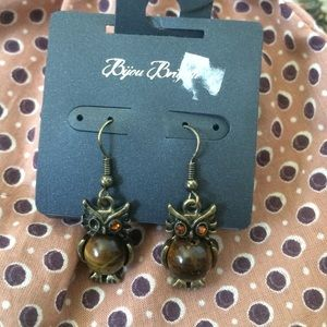 Bijou Brigitte owl earrings