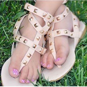 Other - Girls Triple Gladiator Rockstud Sandals Kids