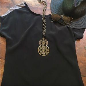 Anthropologie Tops - Sale! NWT Gorgeous drape back silk Chaiken top