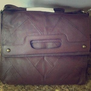 NWT Lucky Brand Brown Leather Crossbody Bag
