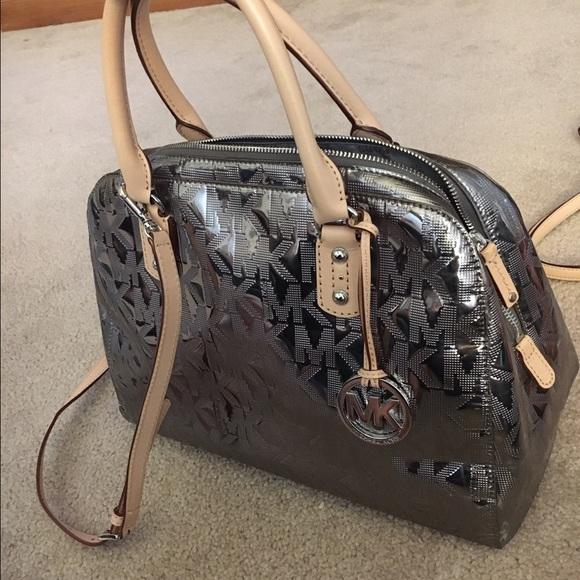 MK metallic purse