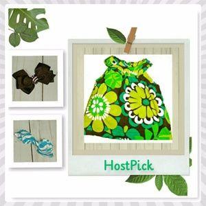HP 🎊 {Carters} Tropic Dress & 2 Bows