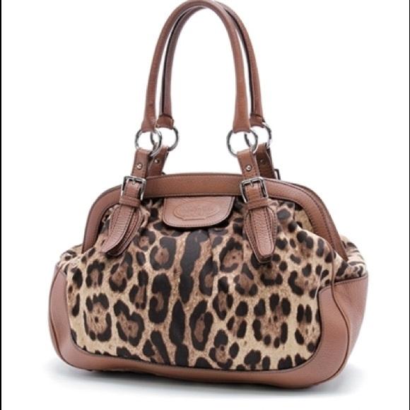 757bc00708 Dolce   Gabbana Handbags - Dolce   Gabbana Leopard Print Canvas Large Bag