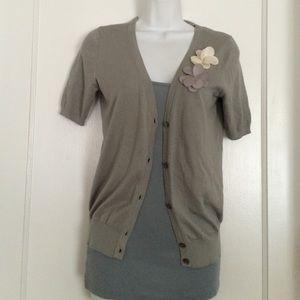 LOFT short-sleeved cardigan size small petite