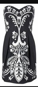 French Connection Dresses & Skirts - French Connection Emrboidered Strapless Dress