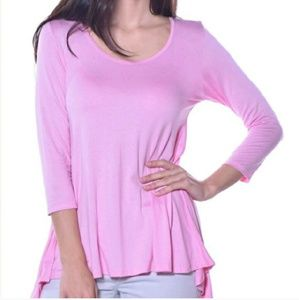 Pastels Clothing Tops - 💥2 Left💥Pastels Flare Back Top