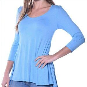 Pastels Clothing Tops - 💥3 Left💥Pastels Flare Back Top