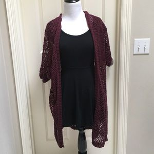Brandy Melville Maroon knitted cardigan