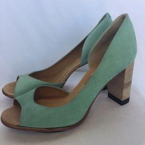 Masiero Shoes - Masiero light teal/aquamarine heels size 7