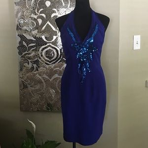 Gorgeous Sequin Halter Dress