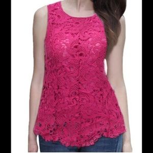 Tops - 🎉Host Pick!🎊 Sale! Lace front peplum top in Rose