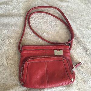 Small Red Tiganello Leather Purse
