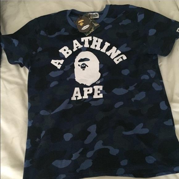 Bape Blue Camo Shirt (Accept Trades) b4fd3c2e193
