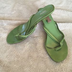Mossimo Green Heeled Sandals