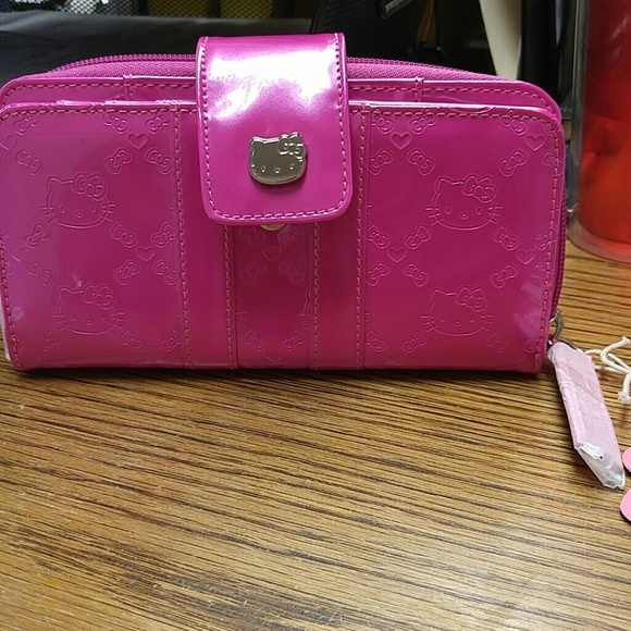 loungefly Bags   Authentic Bright Pink Hello Kitty Wallet   Poshmark 78cb37cccb