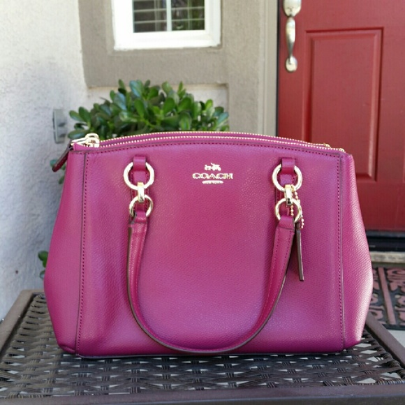 752843940171d Magenta Leather Coach Purse