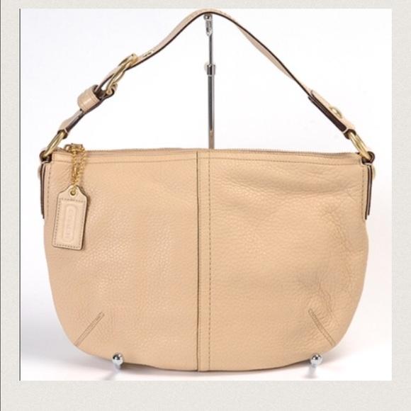 Coach Handbags - Sale! Coach Cream Pebble Leather Hobo Bag b36ec6593872a